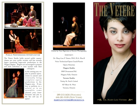 The Vetere Studio Brochure part 1