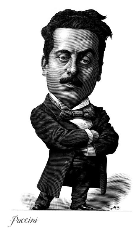 Puccini caricature