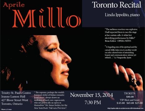 Millo Recital 2014 Toronto